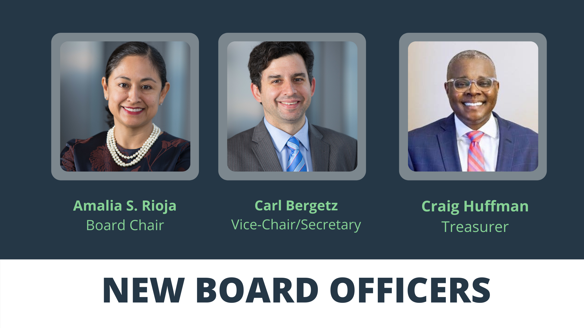 2021 new board officer appointments