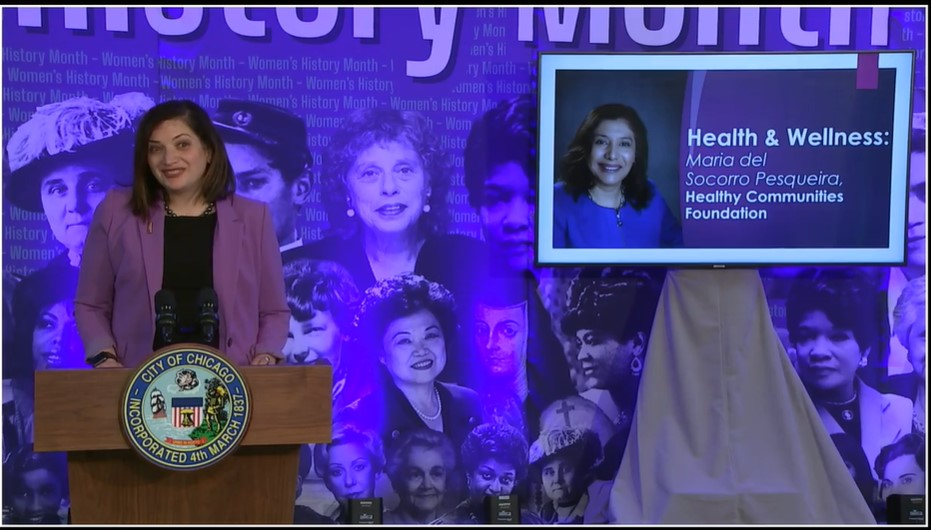 Chicago Mayor's Office Recognizes Pesqueira and HCF during Women's History Month